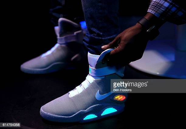 A detailed view of the Nike Mag during the Nike Mag London Auction on October 14 2016 in London England