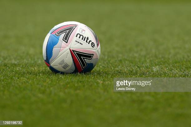 Detailed view of the official EFL match ball is seen prior to the Sky Bet Championship match between Blackburn Rovers and Sheffield Wednesday at...