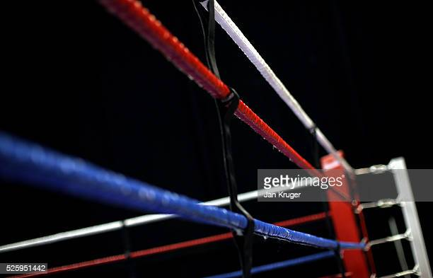 A detailed view of the ring during day one of the Boxing Elite National Championships at Echo Arena on April 29 2016 in Liverpool England
