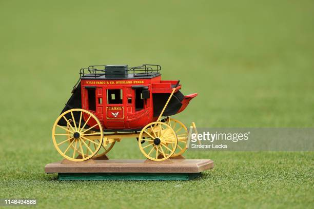 Detailed view of the tee marker on the 13th hole during the first round of the 2019 Wells Fargo Championship at Quail Hollow Club on May 02, 2019 in...