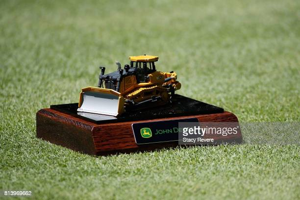 A detailed view of the tee marker on the sixth hole during the first round of the John Deere Classic at TPC Deere Run on July 13 2017 in Silvis...