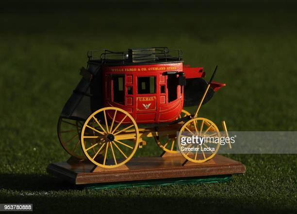 Detailed view of the tee markers ahead of the Pro-Am for the Wells Fargo Championship at Quail Hollow Club on May 2, 2018 in Charlotte, North...