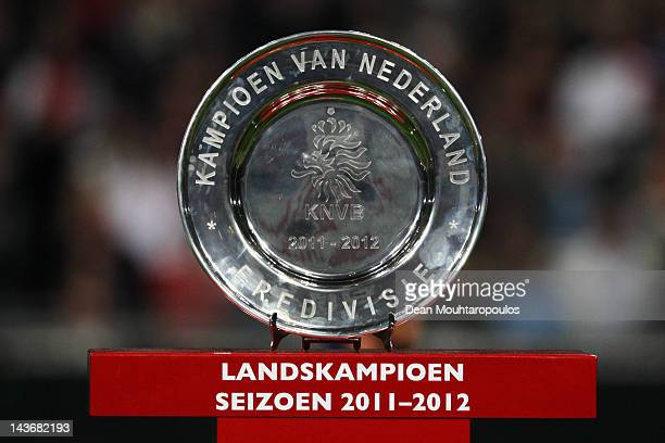 A detailed view of the trophy just before Ajax win the Eredivisie League title at Amsterdam Arena on May 2 2012 in Amsterdam Netherlands