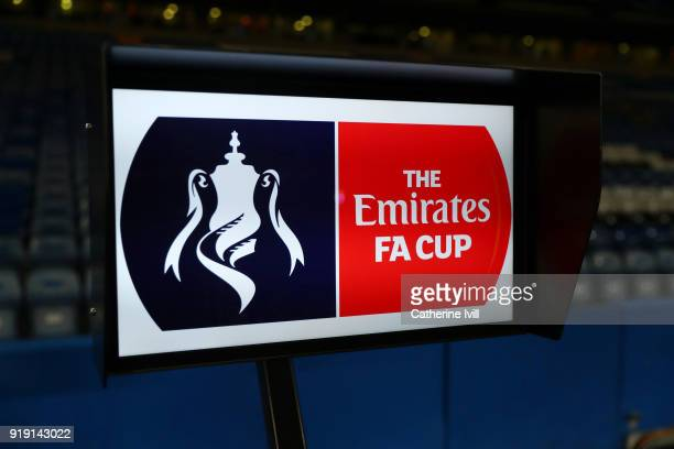 Detailed view of the VAR screen prior to the Emirates FA Cup Fifth Round match between Chelsea and Hull City at Stamford Bridge on February 16 2018...