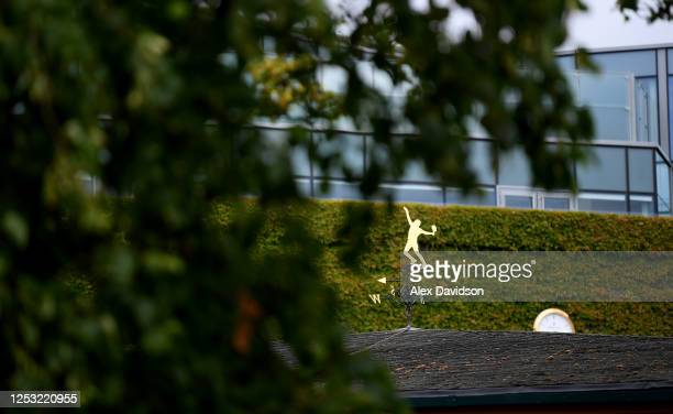 A detailed view of the Weather Vain at The All England Tennis and Croquet Club on June 29 2020 in Wimbledon England The Wimbledon Tennis...