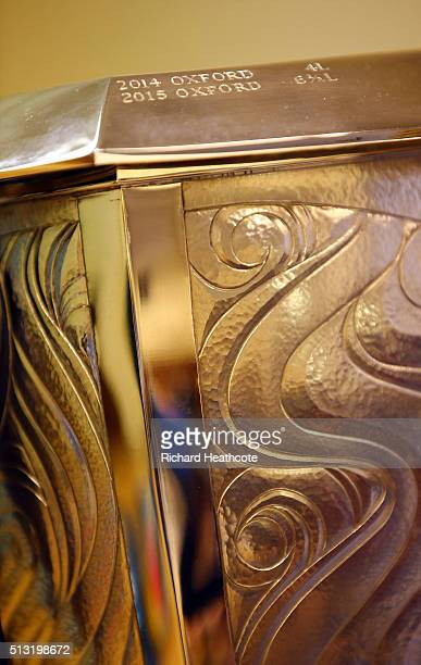 A detailed view of the Women's Boat Race Trophy during The 2016 Cancer Research UK Boat Races Crew Announcement at Central Hall on March 1 2016 in...