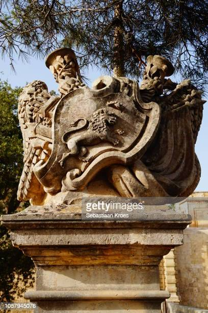 Detailed view on a part of the Bridge at the Mdina Gate, Mdina, Malta