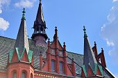 detailed view northern german town hall