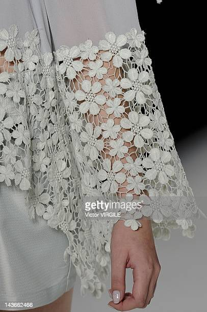 Details and backstage during the Aurea Prates show as part of the Minas Trend Preview Fashion Week Spring Summer 2013 on April 27 2012 in Belo...