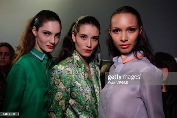 Details and backstage during the Forum show as part of the Sao Paulo Fashion Week Spring Summer 2013 on June 13, 2012 in Sao Paulo, Brazil.