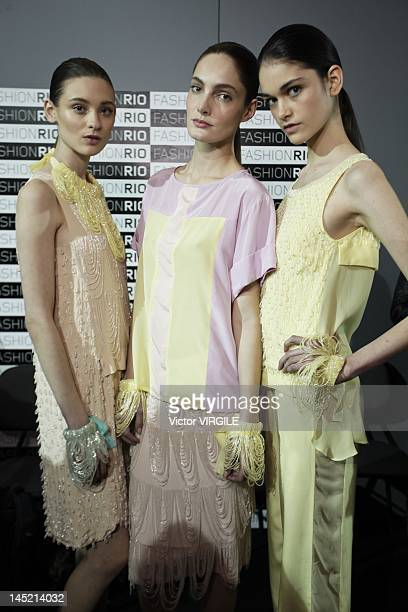 Details and backstage during the Patachou show as part of the Rio de Janeiro Fashion Week Spring Summer 2013 on May 22 2012 in Rio De Janeiro Brazil