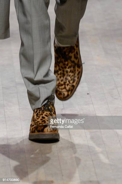 Details at Ovadia Sons Runway on February 2018 at New York Fashion Week Mens' at Irving Plaza on February 5 2018 in New York City