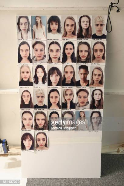 Details backstage at Noon by Noor fashion show during New York Fashion Week The Shows at Gallery 3 Skylight Clarkson Sq on February 9 2017 in New...