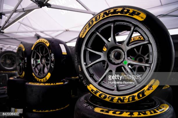 Details during a practice for the FIA World Endurance Championship at Hermanos Rodriguez Race Track on September 02 2017 in Mexico City Mexico