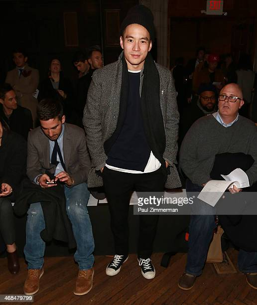 Details Magazine Style Director Eugene Tong attends the Billy Reid Men's show during MercedesBenz Fashion Week Fall 2014 at The Highline Hotel on...