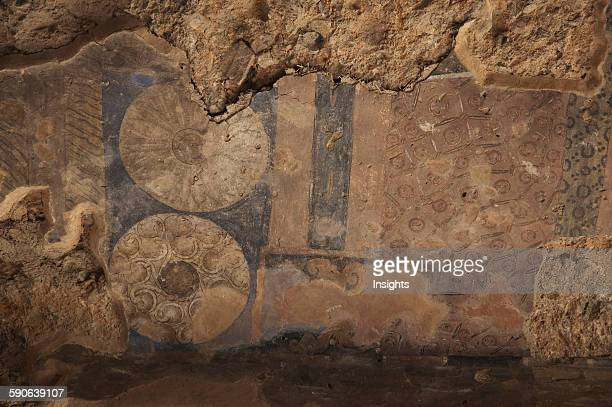 Details Of A Fresco In A Chamber Adjacent To The Niche Of The Small Buddha In Bamiyan Bamian Province Afghanistan
