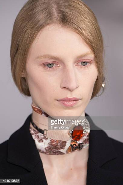 Details of a model is seen during the Christian Dior show as part of the Paris Fashion Week Womenswear Spring/Summer 2016 on October 2 2015 in Paris...