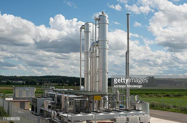 details of a modern biomass plant in germany - fermenting stock pictures, royalty-free photos & images