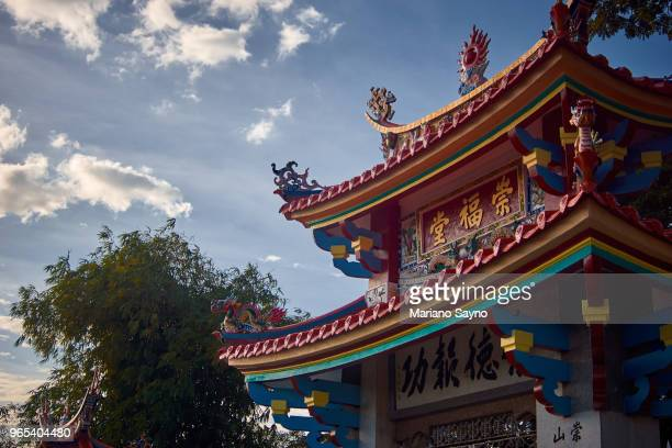 details of chinese temple gate - old manila stock pictures, royalty-free photos & images