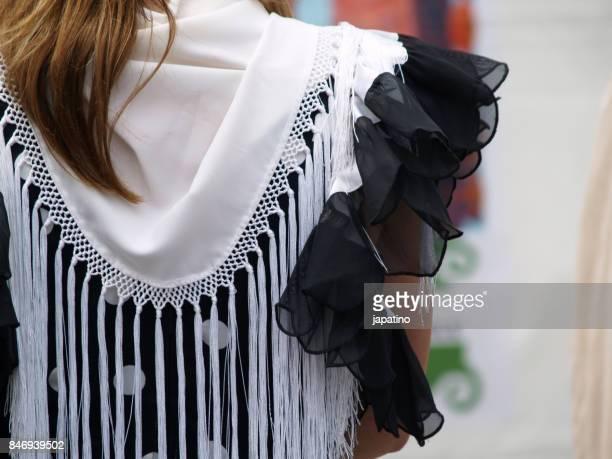 details of flamenco dress typical of andalucia. spain - flamenco photos et images de collection
