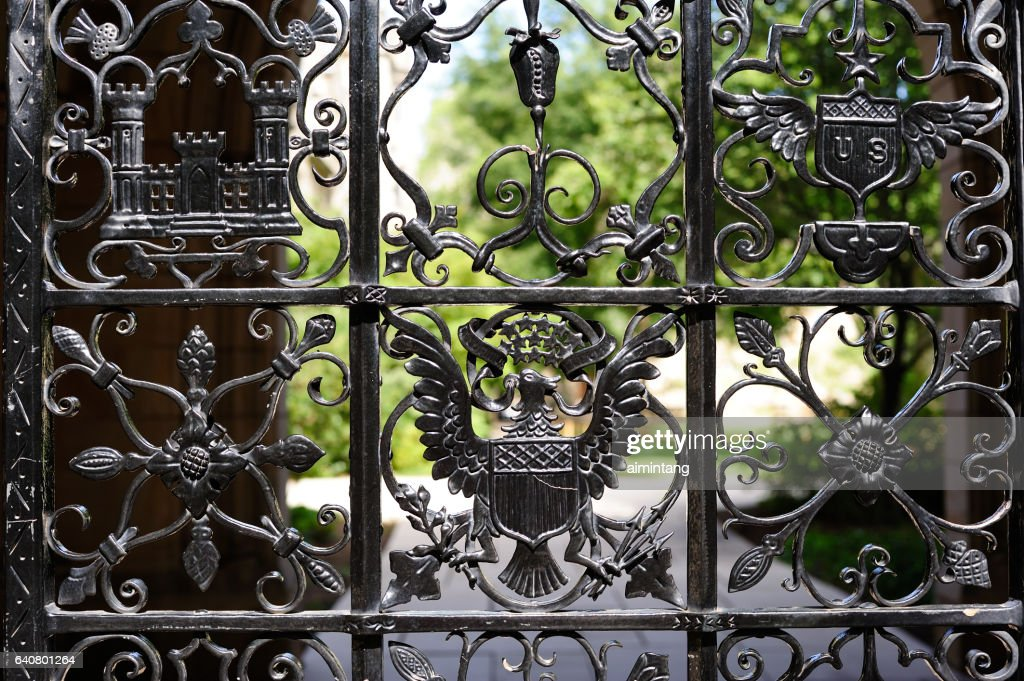 Details of Gate in Yale University : Stock Photo