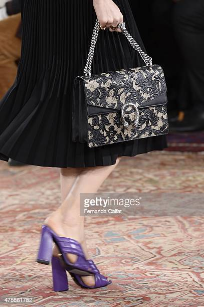 Details of Gucci Cruise 2016 Runway at Dia Art Foundation on June 4 2015 in New York City