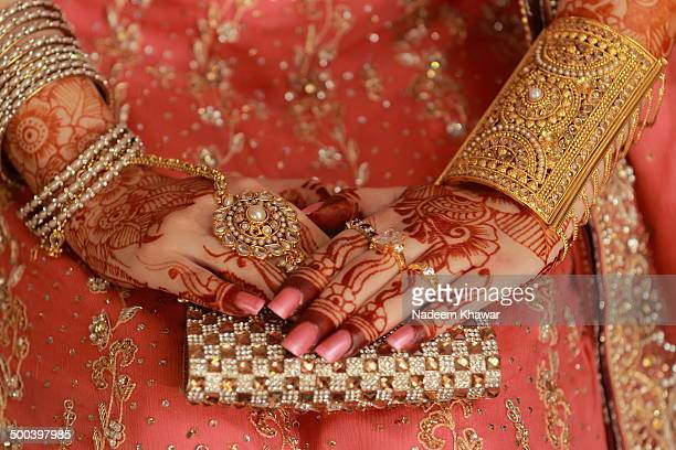 details of mehndi - pakistani gold jewelry stock pictures, royalty-free photos & images