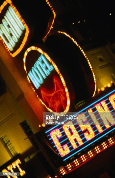 details of neon at the fremont street experience. - fremont street experience stock pictures, royalty-free photos & images