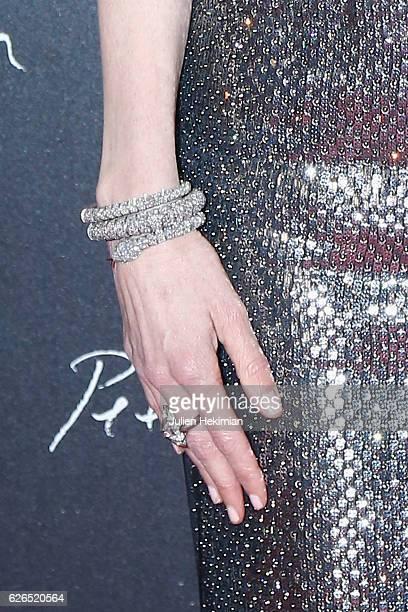 Details of Nicole Kidman bracelet and ring pictured during Pirelli Calendar 2017 by Peter Lindberg Photocall at La Cite Du Cinema on November 29 2016...