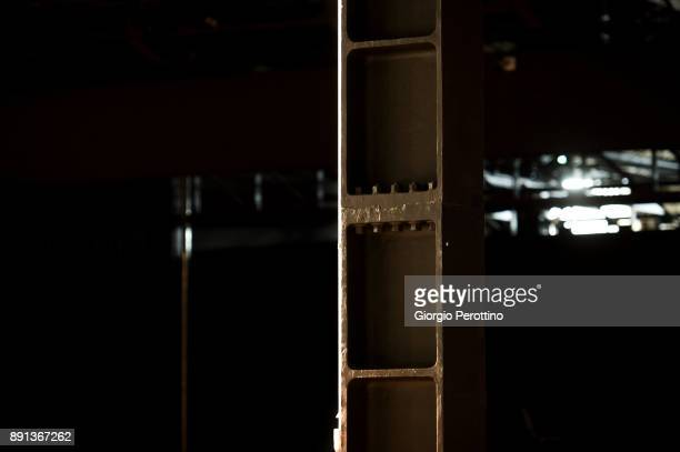 details of OGR indoor structure are seen during Paolo Fresu and his jazz quintet concert at OGR Officine Grandi Riparazioni on December 8 2017 in...