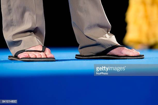 A details of shoes of Iain Glen during 62 Taormina Film Fest Day 7 on June 17 2016 in Taormina Italy