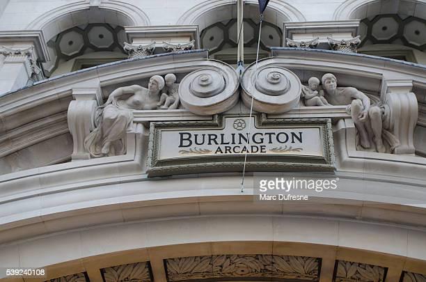 Details of the Burlington Arcade in London