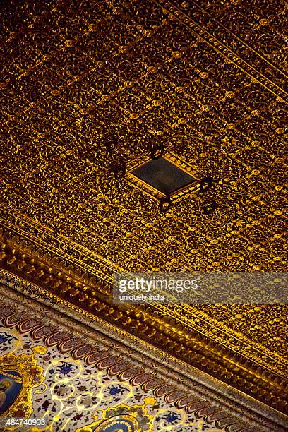 details of the ceiling of a fort, meherangarh fort, jodhpur, rajasthan, india - meherangarh fort stock photos and pictures