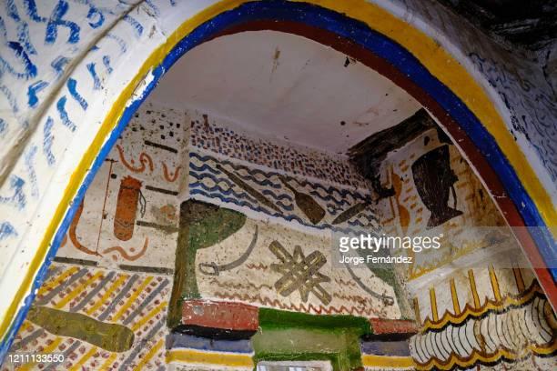 Details of the decorative murals of the Kafin Madaki palace
