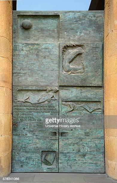 Details of the exterior of the Basilica i Temple Expiatori de la Sagrada Familia, a Roman Catholic church in Barcelona, designed by Spanish architect...