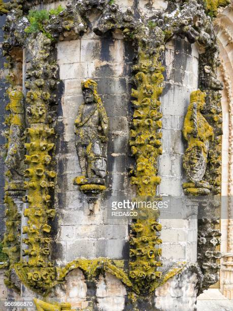 Details of the facade of the church Convent of Christ Convento de Cristo in Tomar It is part of the UNESCO world heritage Europe Southern Europe...