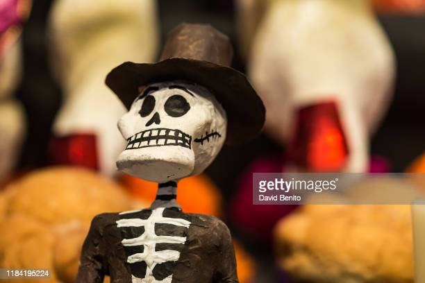 Details of the Giant altar for the Death with Catrina at Casa de Mexico at Madrid on October 29 2019 in Madrid Spain