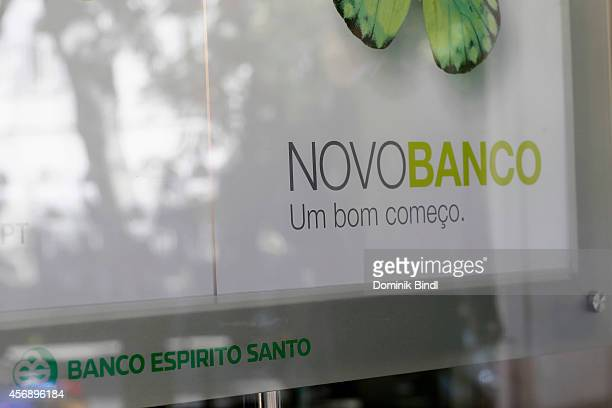 Details of the Headquater building of portuguese Bank Banco espirito santo now called Novo Banco on August 28 2014 in Lisbon Portugal
