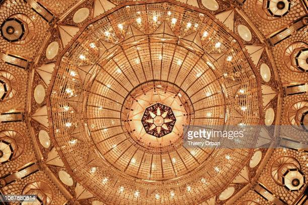 details of the huge chandelier in the big mosque This crystal chandelier was made in Austrian November 14 2018 in Muscate November 14 2018 in Muscate...