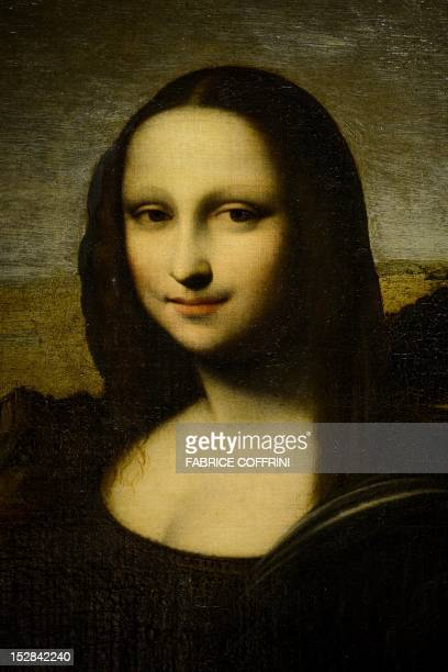 Details of the 'Isleworth Mona Lisa' presented by the Mona Lisa Foundation on September 27 2012 in Geneva as an earlier version of the 'Mona Lisa'...