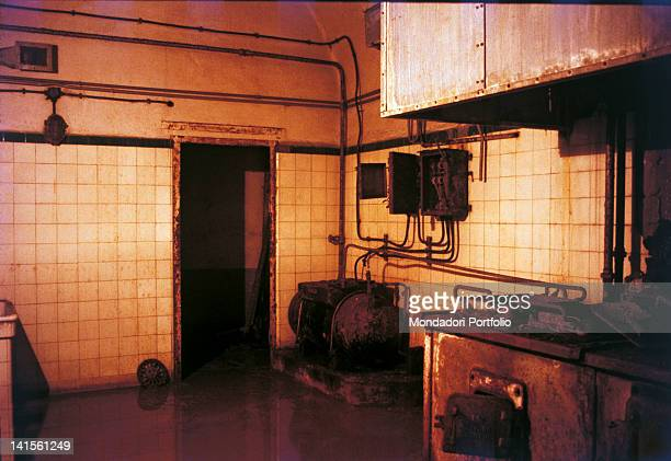 Details of the kitchens of La FertT fortress in the Maginot Line France October 1968