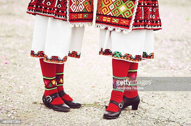 details of traditional bulgarian women's clothing - alexandra pavlova stock pictures, royalty-free photos & images