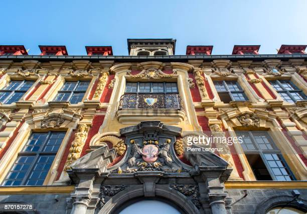 Details of 'Vieille Bourse' (Old Trade Palace), the most prestigiouse building of the city of Lille, Nortth of France