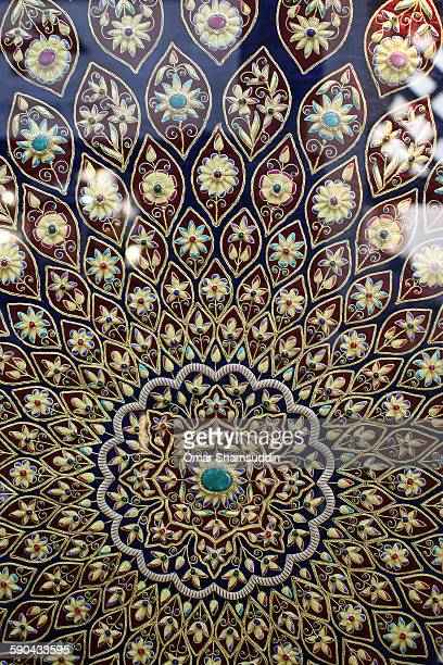 Details on Arabic motif a piece of fabric