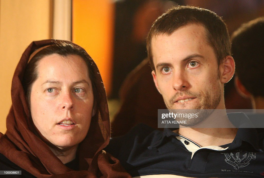 Detained US hiker Shane Bauer sits with his mother during their first meeting since his arrest, in the Iranian capital Tehran on May 20, 2010. The mothers of three US hikers detained for 10 months in Iran called for their release as a 'humanitarian gesture' after an emotional reunion with their children, an AFP correspondent said.