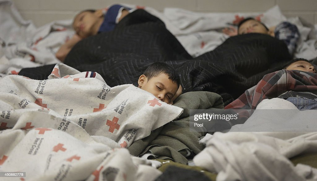 Familes and Children Held In U.S. Customs and Border Protection Processing Facility : News Photo