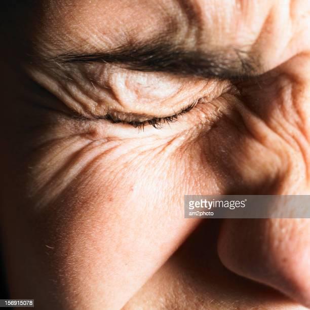Detalle de un ojo cerrado