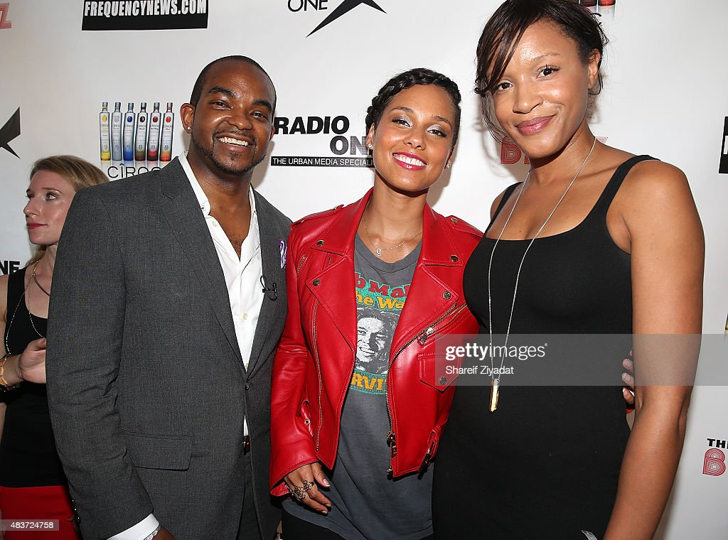 Detavio Samuels, Alicia Keys and Sherina Florence at Stage 48 on August 11, 2015 in New York City.