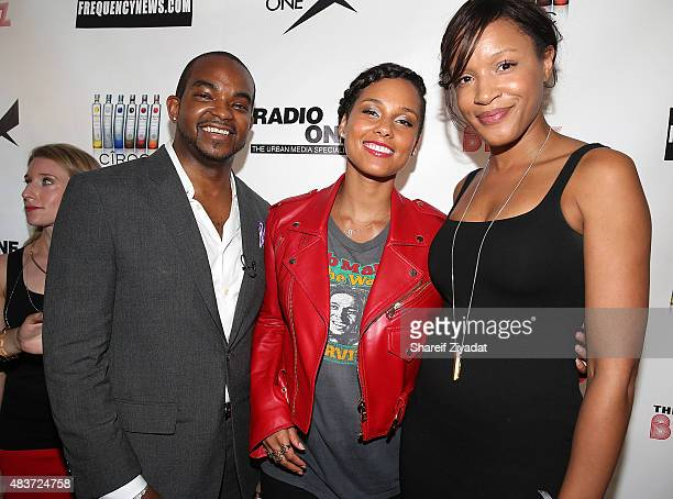Detavio Samuels Alicia Keys and Sherina Florence at Stage 48 on August 11 2015 in New York City