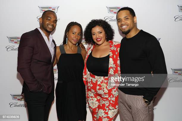 Detavio Samuels Amy Dubois Barnett Allison McGevna and Tristan Mack Wilds attend the Cadillac Welcome Luncheon At ABFF Black Hollywood Now The Temple...